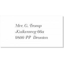 Een voorbeeld van een adresetiket.