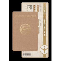 Trouwkaart Ticket to love