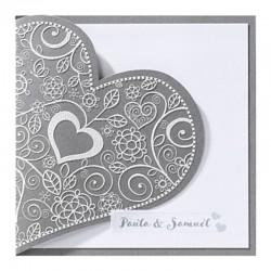 Trouwkaart sierlijk hart