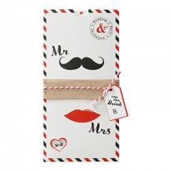 Trouwkaart mr & mrs