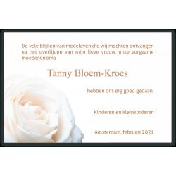 Dankbetuiging witte roos