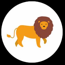 24 Sluitzegels leeuw