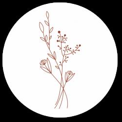 24 Sluitzegels bosje bloemen