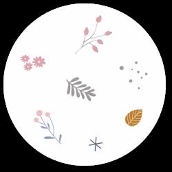 24 Sluitzegels bloemen