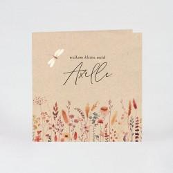 Geboortekaartje droogbloemen