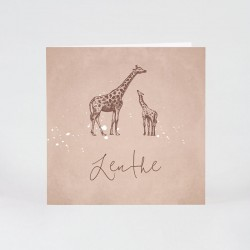 Geboortekaartje girafje