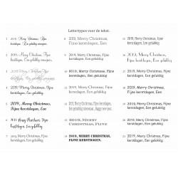 Bekijk hier de soorten lettertypes, deze kunnen gekozen worden in het bestelformulier hieronder.